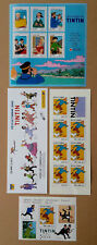 --  TINTIN. 3 PLANCHES TIMBRES FÊTE DU TIMBRE 2000 / VOYAGES 2007 --  NEUF