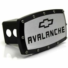 "Chevrolet Avalanche Billet 2"" Tow Hitch Cover Plug Engraved Billet Black Coated"