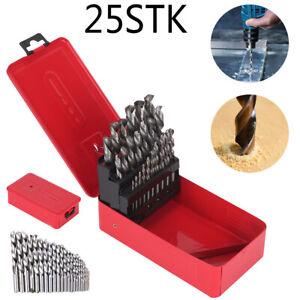 Profi Spiralbohrer-Set HSS-G, 25 tlg., Cobalt-Set 1-13mm Handwerker-Metallbohrer