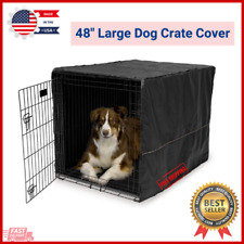 """New listing 48"""" Large Dog Crate Cover Keep Privacy Dog Kennel Midwest Machin Cage Wash & Dry"""