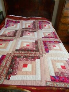 Small vintage patchwork quilt or throw