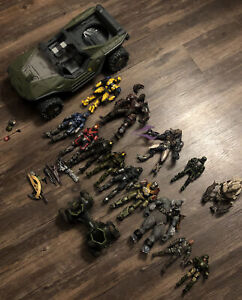 Mcfarlane Toys Halo Reach Action Figure Lot Of 14 With Warthog, Spartan, MORE