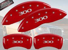 "2005-2010 Chrysler ""300"" 2.7 3.5L Front + Rear Red MGP Brake Disc Caliper Covers"
