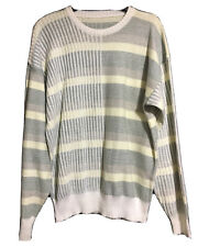 German VTG 90s Colour Block Pastel Jumper Sweater Pullover Retro Spring unisex M