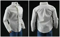 1/6 Scale Male White Shirt Tops Costume  Long Sleeves Clothes Fit 12'' Body