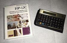 Brand New Nos Hewlett Packard Hp 12c Financial Calculator With Case Sleeve +Book