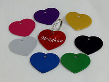 Heart shape anodized aluminum pet ID Tag, free custom engraving  top quality tag