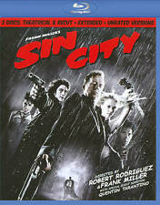 Sin City: Theatrical & Recut - Extended - Unrated Version [Blu-ray 2 Discs] Vg*