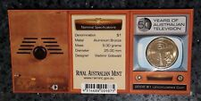 2006 One Dollar 50 Years of Australian Television Uncirculated Coin