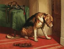 Suspense by sir Edwin Landseer - Giclee Canvas Print Repro