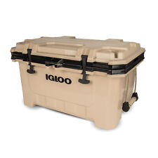 Igloo 00049858 IMX 70 Qt. Insulated Ice Chest Roto-Molded Cooler w/ Handles, Tan