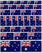 31 Australian Flags Gold leaf border Removable Stickers  Mobile Phone stickers