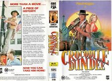 CROCODILE DUNDEE - Paul Hogan -VHS -PAL -NEW -Never played! -Original Oz release
