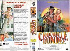 CROCODILE DUNDEE - Paul Hogan -VHS -PAL -NEW -Never played! -Original Oz release