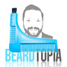 Beard Styling and Shaping Template Comb Tool with Brush by Beardtopia