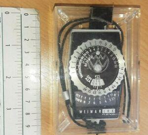 WEIMAR LUX NOVA Light meter VINTAGE GAUGE CAMERA PHOTO MEASURE GERMANY