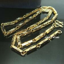 n298-50cm Length18K Gold Filled Cool  Curb Cuban Link Chain Men Necklace 4.5mm