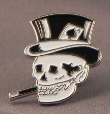 Smoking Skull with Top Hat Enamel & Metal Lapel / Pin Badge -24mm BRAND NEW