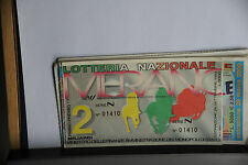 BIGLIETTO - LOTTERIA NAZIONALE DI MERANO - ESTRAZIONE 26/9/1993
