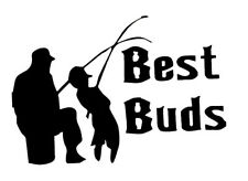 BEST BUDS FISHING b VINYL Decals Sticker  BUY 2 GET 1 FREE AUTOMATICALLY
