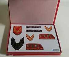 Trans Am GTA Emblem Kit - BRIGHT RED - 8 Piece Kit for 87-90 Firebird TA GTA