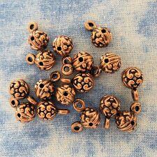 Antique Copper Alloy Metal Pendant Holder 14 Pieces 7mm x 12mm  #0061
