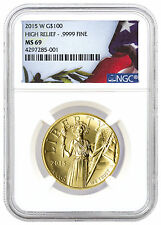2015-W 1 oz. $100 High Relief Gold American Liberty NGC MS69 SKU37639