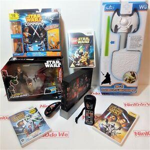 Nintendo Wii Console Star Wars Bundle =Lego Saga +Lightsaber +Boxed Toys
