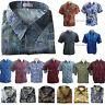 Men's Thai Silk Pattern Shirts Long or Short Sleeve Casual Paisley / Small - 3XL