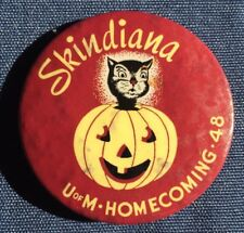 1948 Skindiana UofM Homecoming '48 Football Gophers Vs Indiana Pinback Button