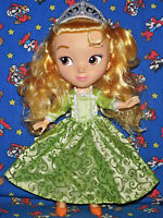 """Sofia The First PRINCESS AMBER 11"""" Doll 2016 Disney in Dress with shoes & Crown"""