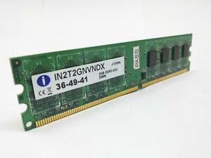 Integral IN2T2GNVNDX 36-49-41 2GB PC2-4200 DDR2-533 240-Pin Desktop RAM