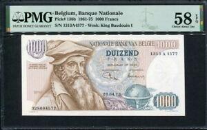 Belgium 1961-1975 ( 1973 ), 1000 Francs, P136b, PMG 58 EPQ UNC