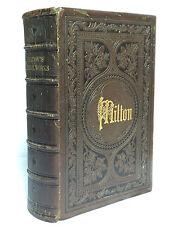POETICAL WORKS OF JOHN MILTON, Egerton Brydges 1861 Luxury Ed., Steel Engravings