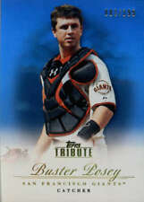 2012 Tribute Blue #61 Buster Posey SER #/199 San Francisco Giants  BX T1R