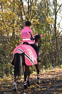 Waterproof Quilted Hi Vis Wraparound Rug- Pink