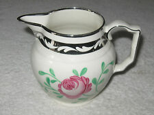 Antique/Vintage English Bone China Grays Pottery Stoke on Trent White Pitcher 5""