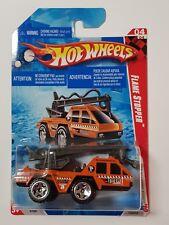 2010 Hot Wheels Flame Stopper Movie Stunts Orange Fire Truck 174/214 Card 04/04