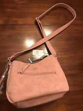 Women's KENSIE BLUSH PINK Purse BOW RUFFLE Ladies Shoulder Hand Bag