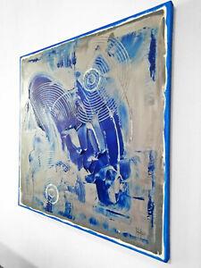 Quadro astratto firmato a mano, dipinto moderno acrilico su tela - Stefano Fiore