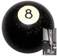 Black Gliiter 8 Ball shift knob for Dodge Chrys Jeep auto stick w/ Adapter