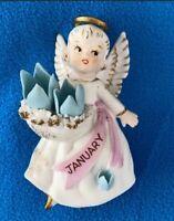 Lefton Angel - January Ceramic Statue - Vintage - with Label 3332