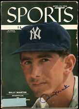 Billy Martin Autographed 1956 Sports Illustrated Magazine Yankees Beckett A60584