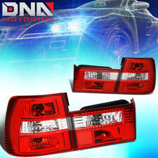 FOR 1989-1995 BMW 5-SERIES M5 E34 PAIR TAIL LIGHT BRAKE/REVERSE LAMPS RED/CLEAR