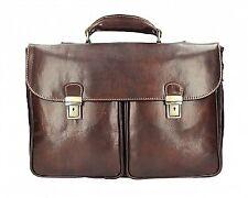 Italian Genuine Leather Briefcase / Workbag / Business Bag - dark brown