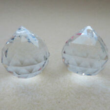 Crystal Glass Pendants 24mm pack of 2