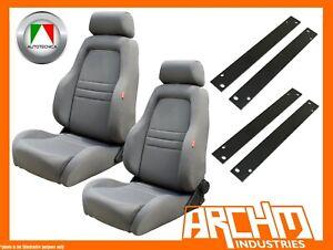 AUTOTECNICA ADVENTURER 4WD 4X4 SEAT CLOTH GREY RA RODEO 2003-2007 ADAPTOR PAIR