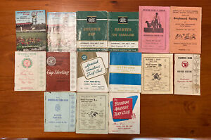 Horse & Greyhound Racing Programmes - 14 Various Guides From 1963-64 ~ Doomben