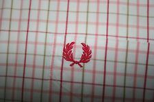 Fred Perry Pink/Cherry Red/White Check Shirt Size L Mod Scooter Casuals Top