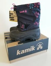 Kamik Girl Snowbound Youth US 12 Navy/Magenta Snow Boot